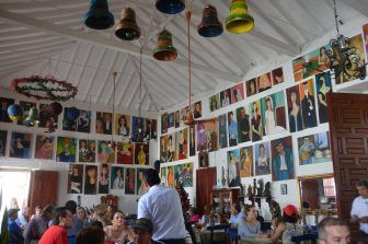 the restaurant with many pictures