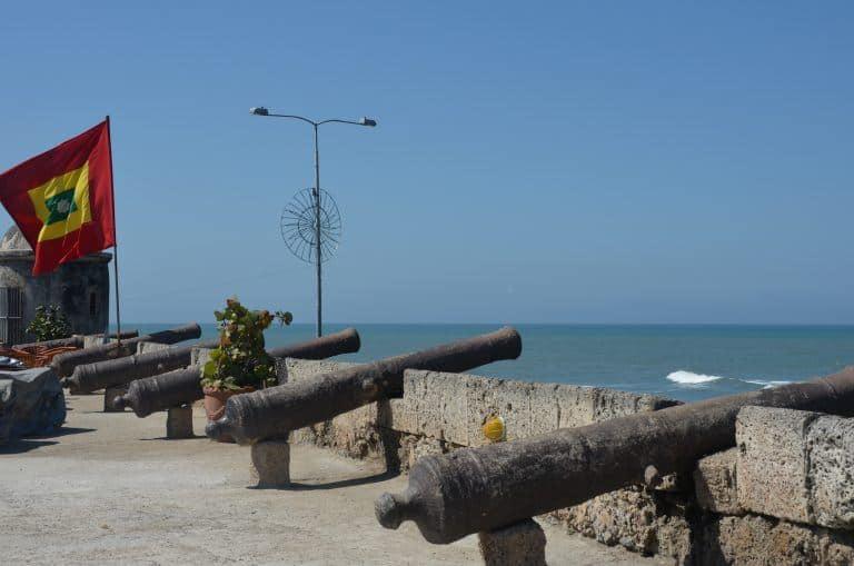 Cartagena – cannons, Jan.2017 (Cartagena)
