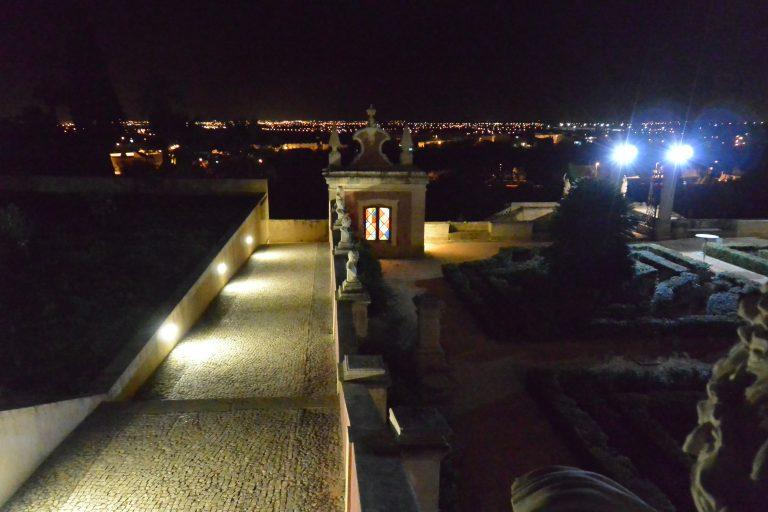 Estoi – garden at night 1, Feb.2017 (Estoi)