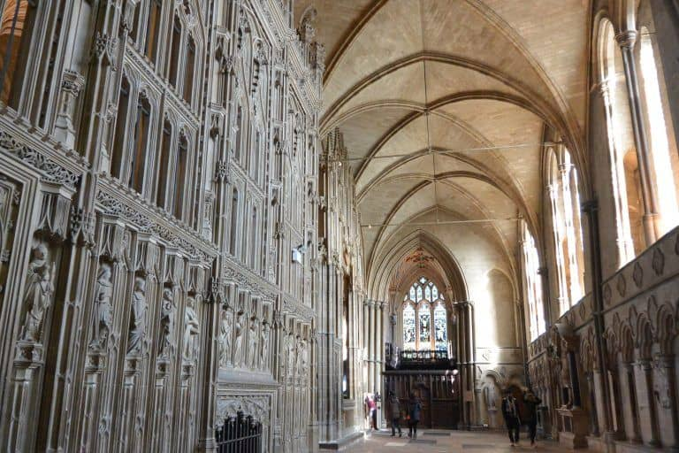 Winchester, cathedral – corridor, Mar.2017 (Winchester)
