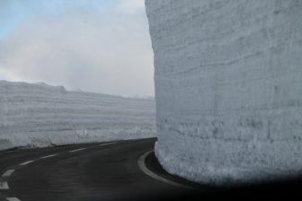 La parete di neve
