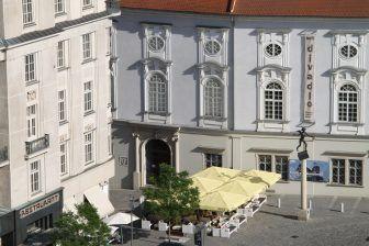 Brno, Capuchin Monastery – shadow, May 2017