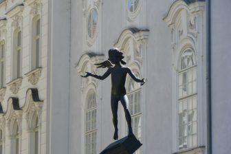 una scultura a Brno