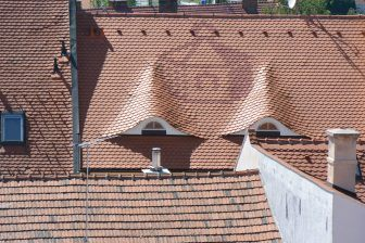 Mikulov – pattern on the roof, May 2017
