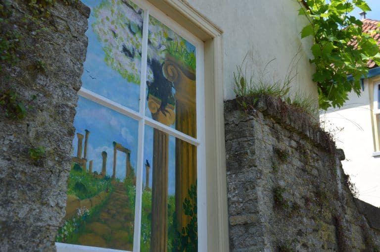 Delft – painted window, June 2017 (Delft)
