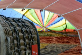 hot air balloon in Bristol: the first part