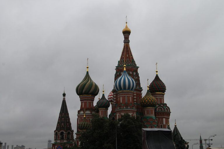 Moscow, the sightseeing tour in the rain