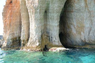 blue caves zakynthos inside