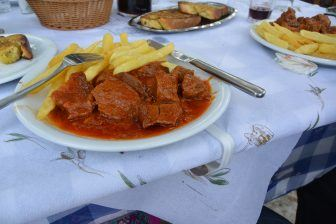 in Greece, eat meat