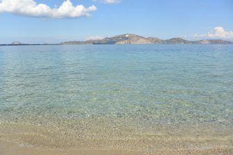 ザキントス島の離島、マラソニシ島の海