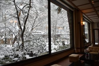 the scene on the train and about the Ryokan