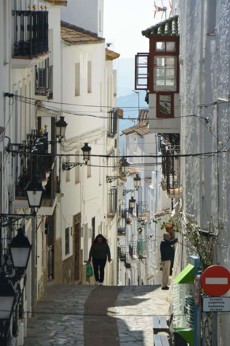 Casares – people in the street, Feb.2018 (Casares) (Andalusia)