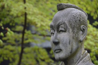 giappone-akita-kakunodate-samurai-aoyagi-statua-naotake-odano