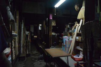 Interno vecchio negozio a Sakata