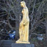 Japan-Akita-Lake Tazawa-statue-Tatsuko-gold