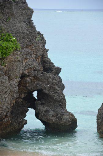 Japan-Miyakojima-Ikema Island-rock-heart-hole