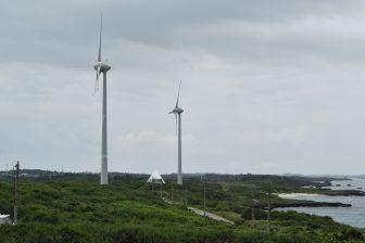Japan-Miyakojima-two-wind turbines