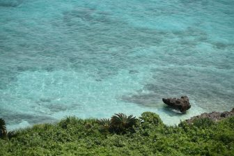 Mi sono svegliata nel vedere il bellissimo mare azzurro di Miyako-jima