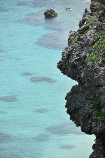Japan-Miyakojima-Higashi Hennazaki-view-sea-rock