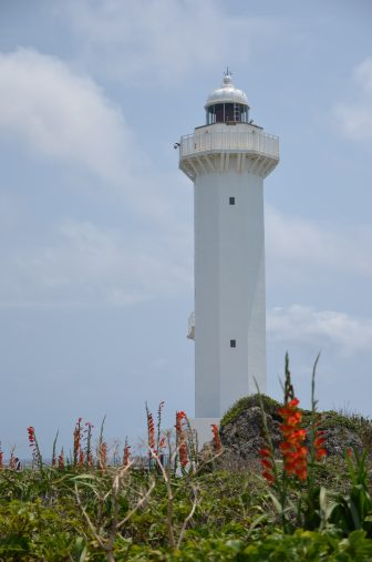 Japan-Miyakojima-Higashi Hennazaki-Hennazaki Lighthouse-white