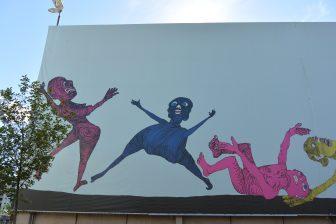 Norway-Oslo-Aker Brygge-mural