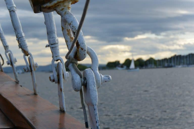taking a boat in Oslo