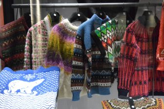 Norway-Oslo-The Norwegian Museum of Cultural History-indoor exhibition-knitted jumpers