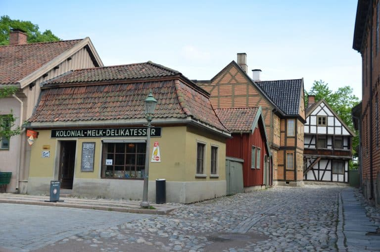 'Old Town' of Oslo in the museum