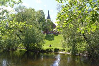 Norway-Oslo-Akerselva river-church-culture centre