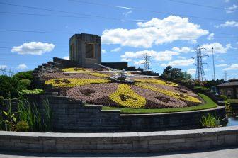 Canada-Niagara-orologio-floreale
