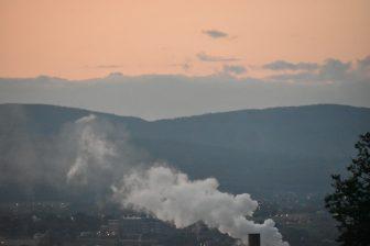 Canada-Quebec City-sunset-view-smoke