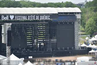 Canada-Quebec City-Summer Festival-venue-empty-daytime