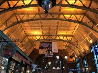 Canada-Quebec City-railway station-interior-ceiling
