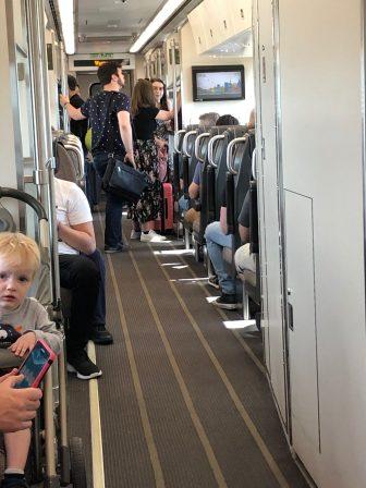 Canada-Toronto-airport express train-inside