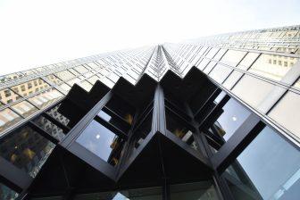 Canada-Toronto-Royal Bank Plaza-headquarters of Royal Bank of Canada-look up
