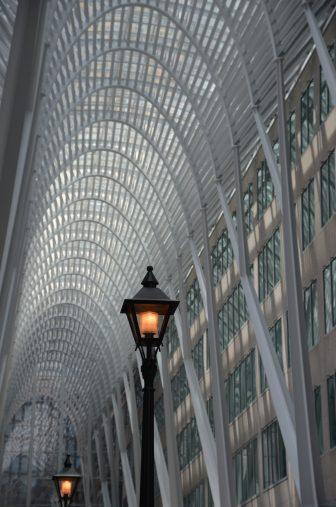Canada-Toronto-Brookfield Place-Allen Lambert Galleria-interior-ceiling-street lamp