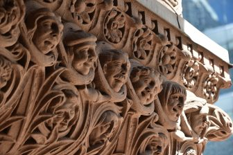 Canada-Toronto-Old City Hall-carving-faces