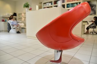 Canada-Montreal-convention centre-hairdresser's-red chair