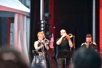 Canada-Montreal-Jazz Festival-Samantha Martins & Delta Sugar-wind instruments players