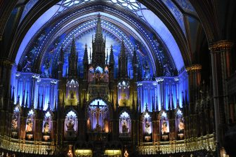 Visitando la basílica de Notre-Dame en Montreal