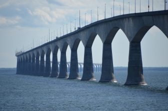 the bridge and the oysters on Prince Edward Island