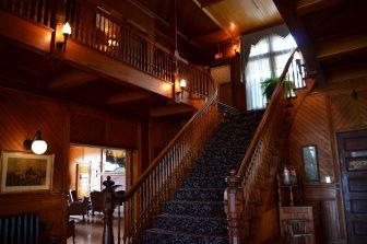 Canada-Prince Edward Island-historic hotel-Dalvay by the Sea-interior-wooden-staircase