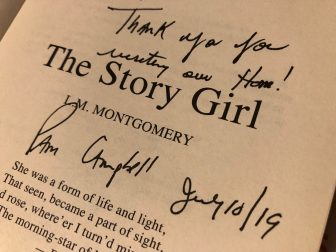 Canada-Prince Edward Island-book-The Story Girl-message