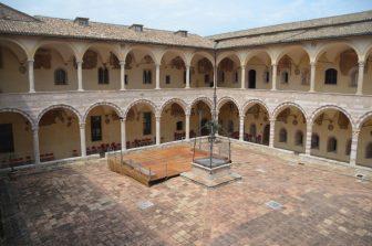 Italy-Umbria-Assisi-Basilica of San Francesco-cloister-two storey