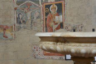 Italy-Umbria-Orvieto-cathedral-fresco-font