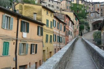 Italy-Umbria-Perugia-Via dell'Acquedotto-residential houses
