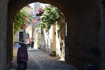attractive old town of Rhodes
