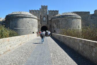 ギリシャ ロドス島 ロドス 騎士団長の館 入り口