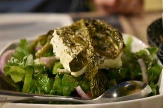 ギリシャ ロードス島 ロードス・タウン レストラン Ta Kardasia グリークサラダ