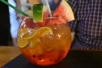 Greece-Rhodes-Rhodes Town-old town-bar-Spritz